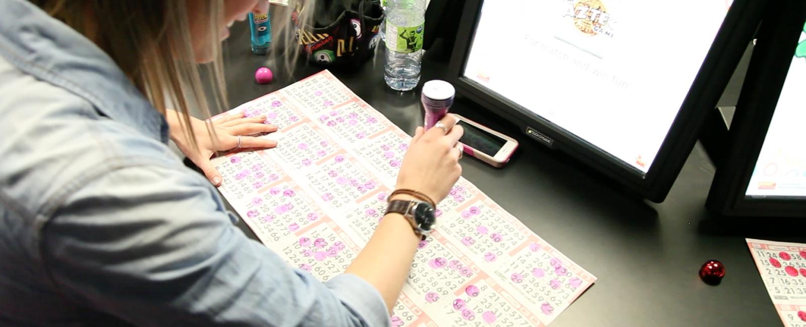 Playing Bingo at Delta Bingo