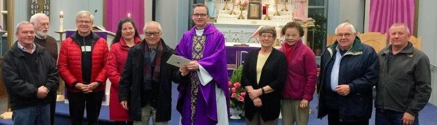 ST. PATRICK'S SHAMROCK CLUB FUNDS NEW CHURCH TABERNACLE
